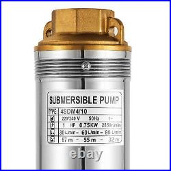 0.75KW 44SDM4-10 Borehole Deep Well Submersible Water Pump LONG LIVE + CABLE