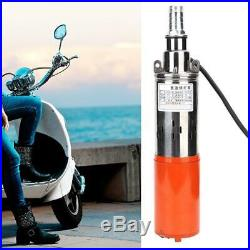 1'' 12V-0.8m³-35m Portable Submersible Water Pump DC Screw High Lift Stainless