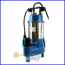 1.6HP Sewage Pump 7100GPH 220V Stainless Steel Submersible Sump Water 1.6 HP