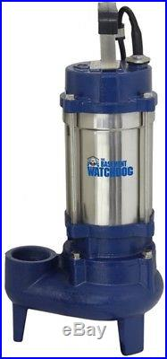 1-HP Stainless Steel Submersible Sump Pump Heavy Duty Watchdog Cleaning Water