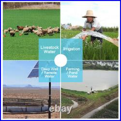 100W Solar Panel & 12V Submersible Pump Deep Well Pump for Watering Pisciculture