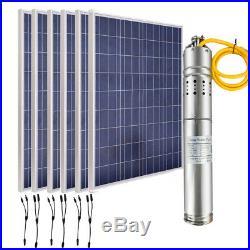 12/24V Bore Pump Solar Submersible Water Pump Deep Well+ Solar Panel Kit