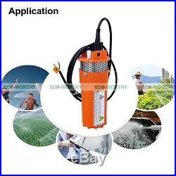 12 Volts DC Deep Well Water Pump Submersible Max 230FT+Lift for Washing Farm
