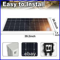 120W Solar Panel &12V Deep Well Water Pump for Home Irrigation Ranch Farm Garden