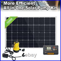 120W Solar Panel with Water Pump DC System Kit +20A Controller for Watering