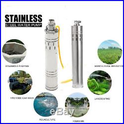 12V/24V 3m³/Hour DC 684W 132W Solar Submersible Water Pump Stainless Steel 80M