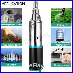 12V/24V DC 3m³/h 180W Solar Deep Well Water Pump Bore Hole Submersible Pump