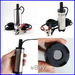 12V/24V DC Fuel Water Oil Submersible Stainless Steel Hot Transfer Pump