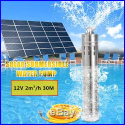 12V 30M 3500r/m Head Brushless Deep Well Solar Submersible Water Pump 2m³/h