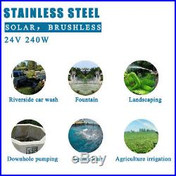 12V 3m³/h Brushless Stainless Steel Solar Submersible Water Pump Agriculture 20M