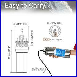 12V DC Stainless Solar Powered Submersible Water Well Pump for Garden Farm Pond