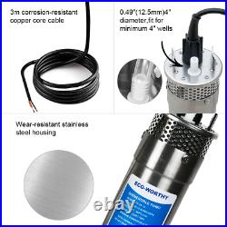 12V Deep Well Submersible Water Pump System 120W Solar Panel Kits & Solar Pump