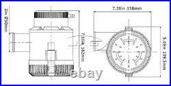 12V SEAFLO 4700GPH SUBMERSIBLE BILGE PUMP Water / Boat / Marine / Caravan / RV