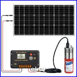 12V Solar Deep Water Well Pump Submersible for Irrigation Stainless Steel
