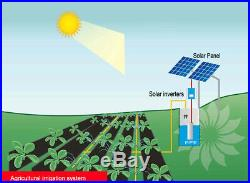 12V Solar Panel Submersible Deep Well Water Pump System Remote Water Fetching