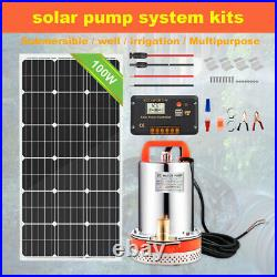 12V Solar Water Pump System with100W Solar Panel Kit &Extention Cable for Watering