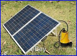 12V Solarpumpe Submersible Water Pump +120W 12V Folding SolarPanel for Watering