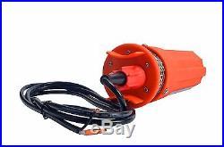 12V Submersible Deep DC Solar Well Water Pump, Battery, Alternate Energy 230Ft