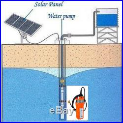 12V Submersible Solar Water Deep Pump+120W Mono Folding Solar Panel f Irrigation