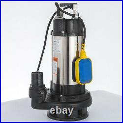 1500W Heavy Duty Garden Pond Submersible Sewage Clean Dirty Water Pump Free