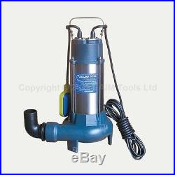 151614 Submersible Sewage Water Pump With Cutter Shredder 1100W