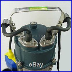151624 Heavy Duty 750W Submersible Sewage Dirty Waste Water Pump Floating Switch