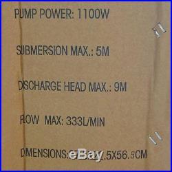 151625 Heavy Duty 1.1KW Power Submersible Sewage Dirty Waste Water Pump W Switch