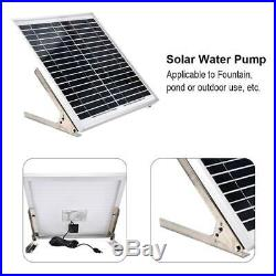 15W Double Pump Power Storage Remote Control Pond Solar Submersible Water Pump