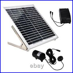 15W Double Pump Wireless Remote Control Pond Solar Submersible Water Pumps Tool