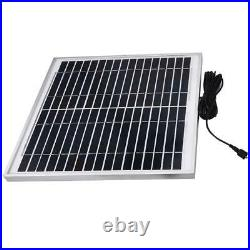 15W Dual Pump 10m Wireless Remote Control Pond Solar Submersible Water Pumps ABS