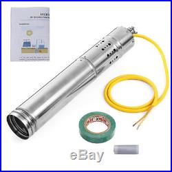 180W 2m³/H Solar Water Powered Pump Submersible Bore Hole Pond Deep Well Pump