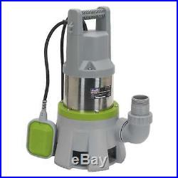 1x Sealey High Flow Submersible Stainless Dirty Water Pump 417L/min 230V