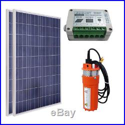 2''100W Solar Panel Powered Submersible Water Deep Well Pump & Controller Kit