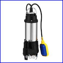 2.4HP Water Pump Submersible Flooding Swimming Pool 3968GPH Emergency Draining