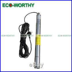 2 (50mm) Submersible Bore 0.5HP Deep Well Water Pump Watering 240V 180FT/55M