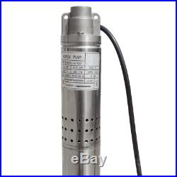 2 (50mm) Submersible Water Borehole Pump AC Deep Well 0.5 HP 240V Stainless/S