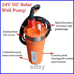 2 Colors 24V Stainless Strainer Submersible Deep DC Solar Well Pump Water pump