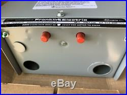 2 HP 230V 1PH Franklin Electric Control Box Submersible Water Pump 2823018110