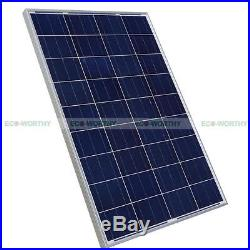 2 PCs 100W Poly Solar Panel Module 24V Submersible Water Deep Well Pump Watering