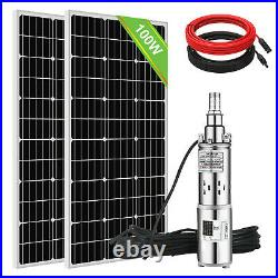 200W Solar Panel + 24V 3'' Stainless Stee Submersible Solar Water Deep Well Pump