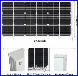 200W Solar Panel + 24V Submersible Solar Well Water Pump + 20A Charge Controller