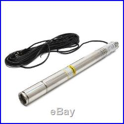 220V 50MM Submersible Bore 0.5 HP Water Farm Garden Deep Well Pump180ft 8GPM