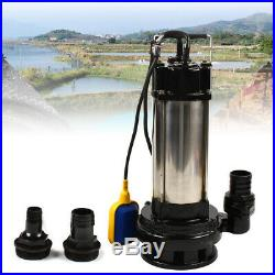 220V Submersible Pump Sewage Pump Submersible Dirty Water pump Stainless Steel