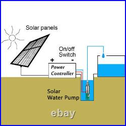 220W DC 12V Electric Solar Power Deep Well Water Pump Submersible Bore Hole