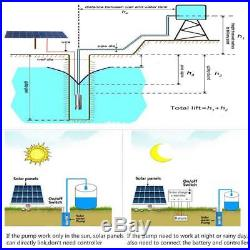 24V 120M 3m³/h Steel Submersible Deep Well Solar Water Pump