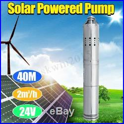24V 2000L/H Solar Powered Water Pump Farm&Ranch Submersible Bore Hole