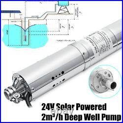 24V 2000L/H Solar Powered Water Pump Farm&Ranch Submersible Bore Hole