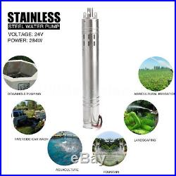 24V 2m³/h 40m Solar Powered Stainless Shell Submersible Deep Well Water Pump