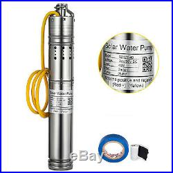 24V/36V DC 40M 2m³/h 284w Steel Submersible Deep Well Solar Water Pump