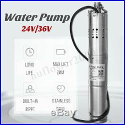 24V/36V DC Brushless MPPT Solar Powered Submersible Deep Well Water Pump Farm